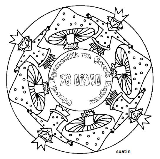 23 Nisan Mandala Calismasi Alintidir Indir Gorsel Sanatlar